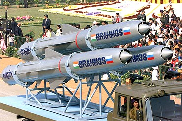 India's BrahMos supersonic cruise missiles, jointly developed with Russia, have a range of 290 km