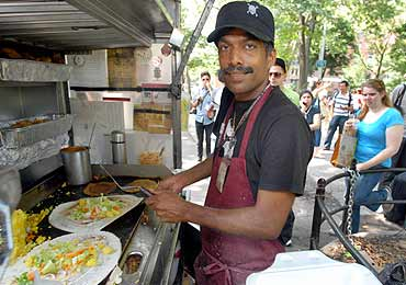 'The New York legend' Thiru Kumar impressing his dosa lovers