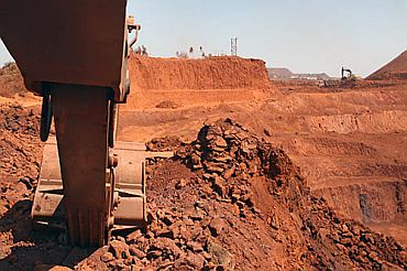 Mining in progress in Bellary