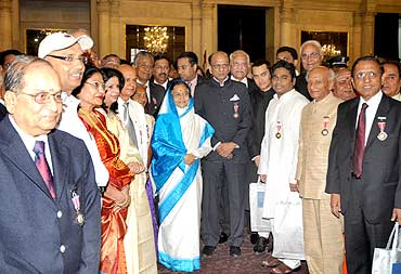 President with the Padma awardees
