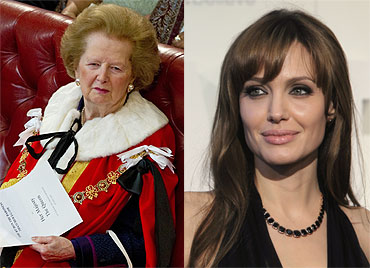 Margaret Thatcher and Angelina Jolie