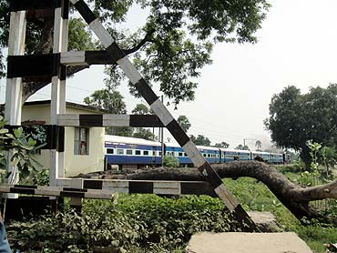 A railway crossing in Bihar