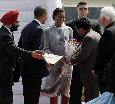 First PHOTOS of Obama arriving in Mumbai