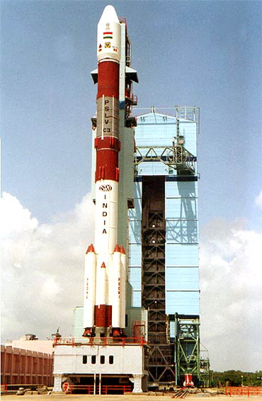 India's Polar Satellite Launch Vehicle at  the Sriharikota spaceport