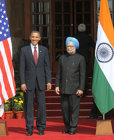 Obama's Monday in New Delhi