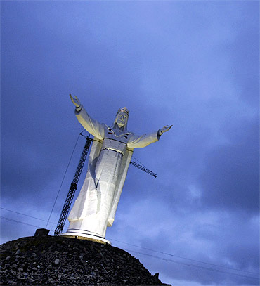 The giant statue of Jesus Christ