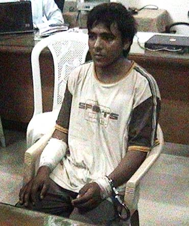 Ajmal Kasab, the lone surviving member of the 10-man group which attacked several Mumbai landmarks, is seen at an undisclosed location under police custody