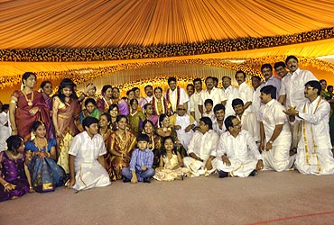 Four generations of the Karunanidhi family