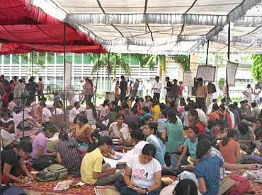 Resident doctors protest against reservations at AIIMS, New Delhi