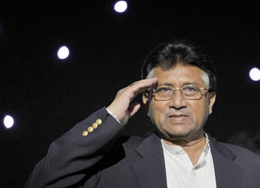 File photo of Musharraf addressing a gathering in Birmingham