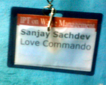 The Love Commando identity card of founder Sanjoy Sachdeva