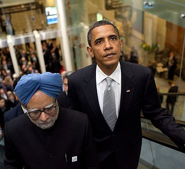 Prime Minister Manmohan Singh with President Obama