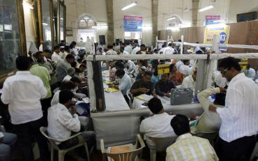 A scene inside a counting centre during the last elections. A file picture