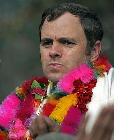 File photo of Jammu and Kashmir Chief minister Omar Abdullah