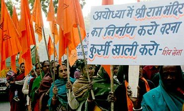 A Shiv Sena demonstration in favour of the Ram temple