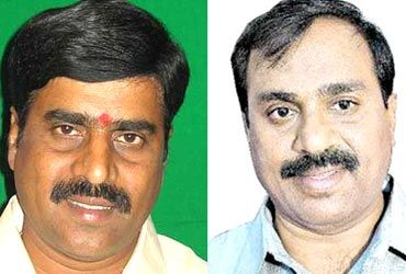 G Karunakar Reddy, left and G Janardan Reddy