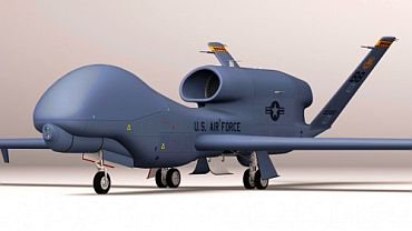 Computer-generated image of the Global Hawk in use with the US Air Force