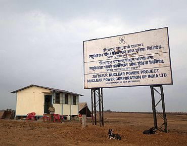 The proposed site of the Jaitapur nuclear plant in Ratnagiri district of Maharashtra