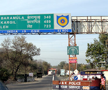 A road signboard on the highway.