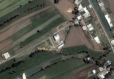 This satellite image shows the compound that Osama bin Laden was killed in