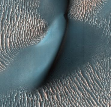 The relatively bright, small ridges are ripples. From their study on Earth, and close-up examination by the MER rovers