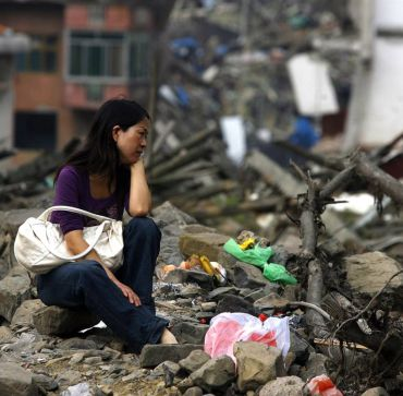 The quake-hit Sichuan Province, China