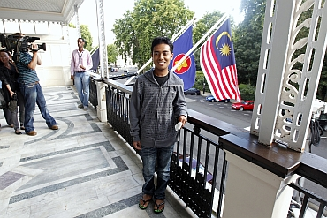 Ashraf Rossli at the Malaysian High Commission in London