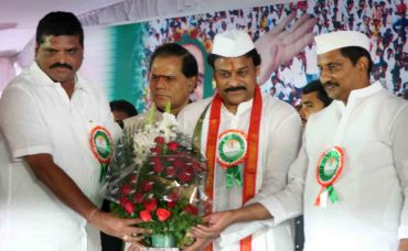 K Chiranjeevi was formally inducted into the Congress party by AP Chief Minister Kiran Kumar Reddy and party president Botsa Satyanarayana