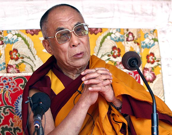 His Holiness, The Dalai Lama, in Tawang, Arunchal Pradesh