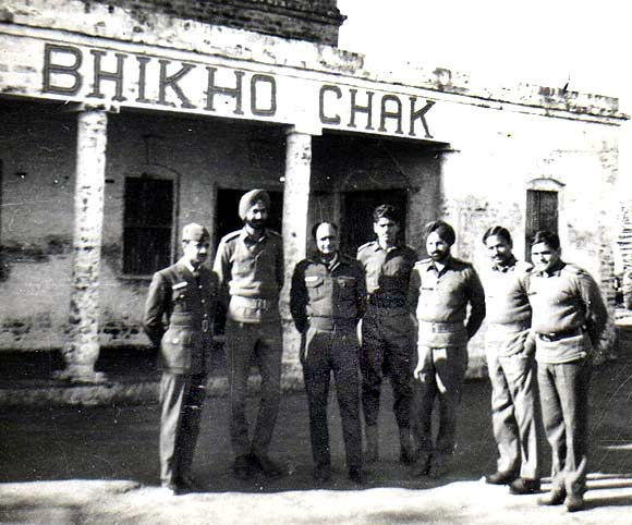 Brigade headquarters staff at Bhikhoo Chak