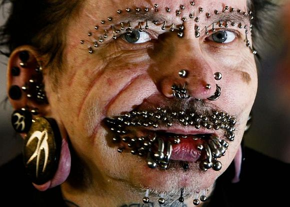 World's Most Pierced Man: Rolf Buchholz