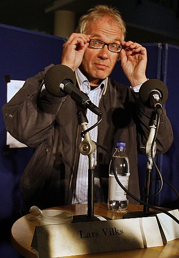 Swedish cartoonist Lars Vilks, who drew the controversial cartoons of Prophet Mohammad