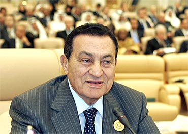 Egypt's President Hosni Mubarak attends the opening ceremony of the Arab summit in Riyadh in 2007