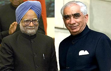Prime Minister Manmohan Singh and Jaswant Singh
