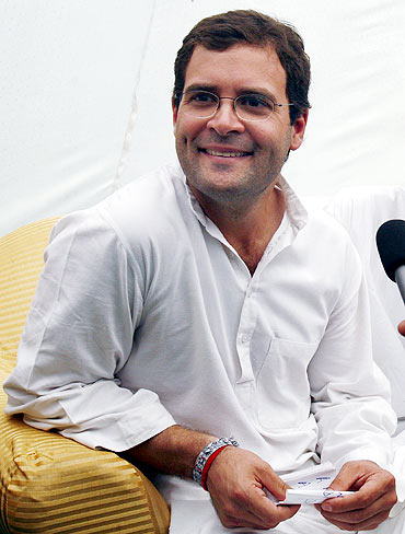 Rahul Gandhi during an election campaign