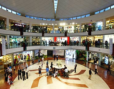 A shopping mall in New Delhi