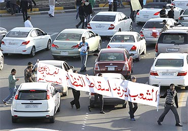 Protesters take to the streets in Manama