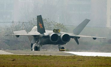 A Chinese stealth fighter is seen in Chengdu, Sichuan province