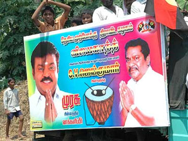 An election poster with the 'Captain'