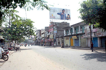 Streets of Hyderabad wore a deserted look during the bandh