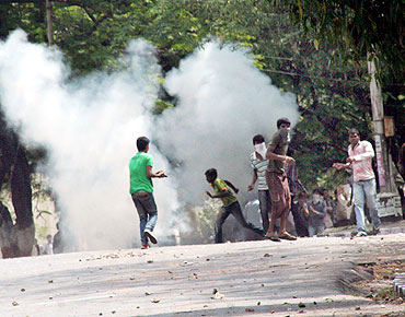 TSJAC members clashed with security personnel in Hyderabad on Tuesday