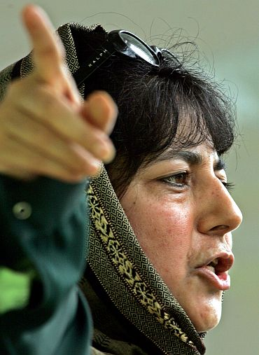 People's Democratic Party president Mehbooba Mufti