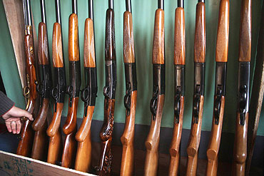 Guns produced at the Subhana Gun factory