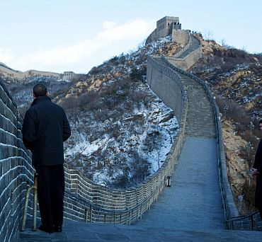 File photo of US President at the Great Wall of China