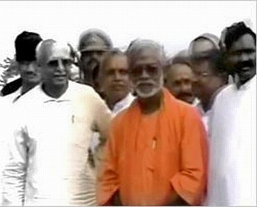 File picture of Swami Aseemanand (in orange robe)