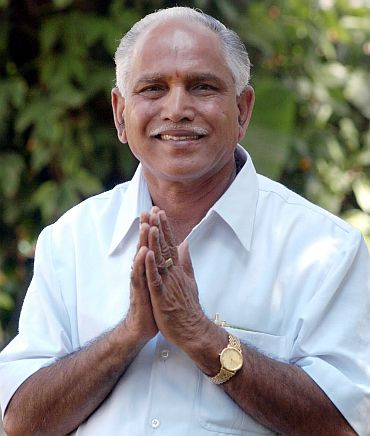 Yeddyurappa in happier times