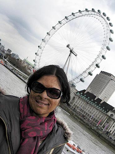 Shirin while on a visit to London