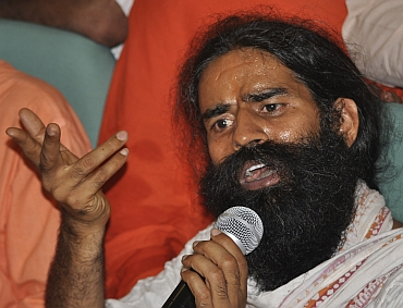 Ramdev resumes protest in Haridwar on Tuesday