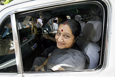 Leader of the opposition Sushma Swaraj