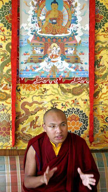 The Karmapa Lama, 3rd highest ranking Tibetan Buddhist spiritual leader